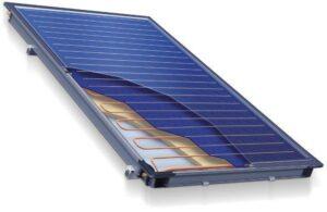 Плоские солнечные коллекторы разрез