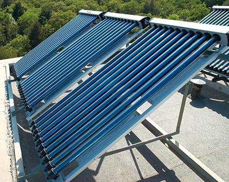 Вакуумный коллектор на крыше