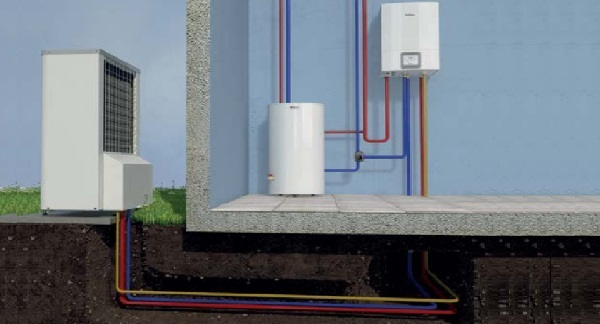 Монтаж теплового насоса воздух-вода